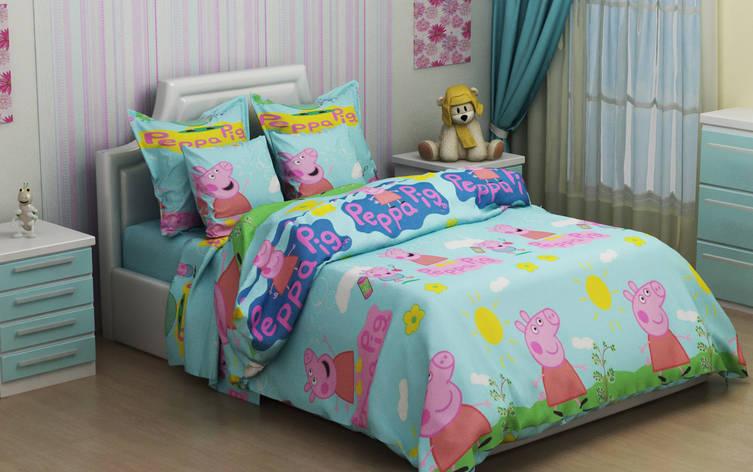 Детское постельное бельё Свинка Пеппа 150*220 хлопок (7251) TM KRISPOL Украина, фото 2