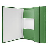 Папка А4 на резинці, 40мм, зелена