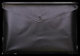 Папка-конверт А4 на кнопці, JOBMAX, непрозора, чорний