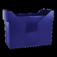Картотека для підвісних файлів, пластик, синя