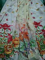 Шарфик женский в цветочный принт