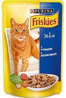 Консервы Friskies для кошек с тунцом и морковкой, 100 г