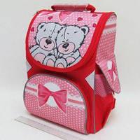 Рюкзак-коробка 3 отделения 33х24х13,5см Мишки