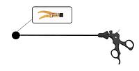 Биполярный диссектор изогнутый двухбраншевый с антипригарным покрытием Wanhe