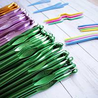 Крючки для вязания алюминиевые цветные (Китай)