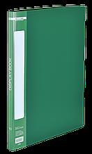 Папка з 10 файлами А4, зелений
