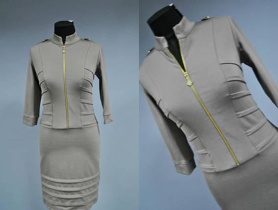 """Элегантное женское платье """"Французский трикотаж"""" Турция 42, 46 размер норма, фото 2"""