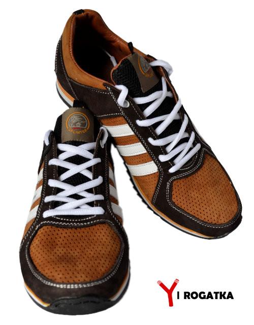 a93ce689d Мужские нубуковые кроссовки Splinter, рыжие с коричневыми вставками,  перфорация