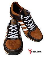 Мужские нубуковые кроссовки SPLINTER, рыжие с коричневыми вставками, перфорация