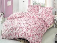 Двуспальное евро постельное белье Brielle 704 V1 Pink Ранфорс