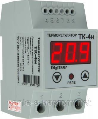 Одноканальный терморегулятор с датчиком TK-4н DIN-рейка DigiTOP