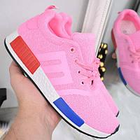 Кроссовки женские Adidas Yeezy розовые 3291, спортивная обувь