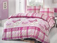 Двуспальное евро постельное белье Brielle 701 V2 Pink Ранфорс