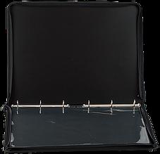 Папка-портфель пласт. PROFESSIONAL з 6 кільцями, A2, чорний