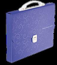 Портфель пластиковий A435мм, BAROCCO, фіолетовий
