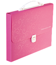 Портфель пластиковий A435мм, BAROCCO, рожевий