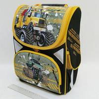 Рюкзак-коробка 3 отделения 33х24х13,5см Машины монстры