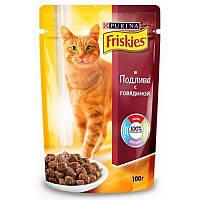 Консервы Friskies для кошек с говядиной, 100 г