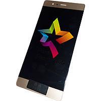 Дисплей для мобильного телефона Huawei P9, золотой, с тачскрином, ORIG