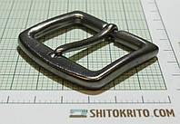 Пряжка (квадрат) металл (Италия) (матовый, темный никель)