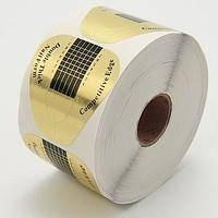 Формы для наращивания ногтей золотые широкие, 100 шт