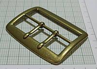 Пряжка (квадрат) металл (Италия) (2 ножки, матовый, латунь)