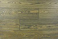 """Трехслойная однополосная паркетная доска """"Дуб Дымчатый Браш"""", 15х140х1000-2200 мм."""