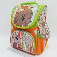 Рюкзак-коробка 3 отделения 33х24х13,5см Котик