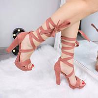 Босоножки женские Uno розовые 3293, сандалии женские