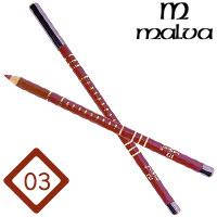 Malva Cosmetics Карандаш M-319 дерево для губ Lip Contour Pencil Тон №003 terracotta, матовый