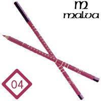 Malva Cosmetics Карандаш M-319 дерево для губ Lip Contour Pencil Тон №004 pink rose, матовый