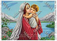 """Схема для частичной вышивки бисером 1040 - """"Мать с ребенком"""""""