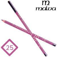 Malva Cosmetics Карандаш M-319 дерево для губ Lip Contour Pencil Тон №025 pink rose l, матовый