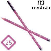 Malva Cosmetics Карандаш M-319 дерево для губ Lip Contour Pencil Тон №025 pink rose l, матовый, фото 2
