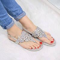 Босоножки женские Stone серебро 3297, сандалии женские, фото 1
