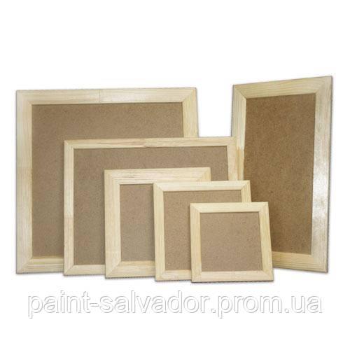 деревянная рамка для декора с двп 40х40 см планка 40х17 цена 47
