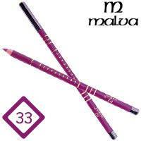 Malva Cosmetics Карандаш M-319 дерево для губ Lip Contour Pencil Тон №033 magenta, матовый