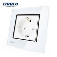 Розетка Livolo VL-C7C1EU-11, белый цвет