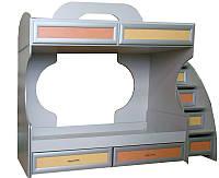 Кровать 2-х ярусная c ящиками на роликах