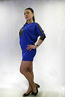 Платье   FLF  First Lend Fashion Кожа Лист Летучая мышь