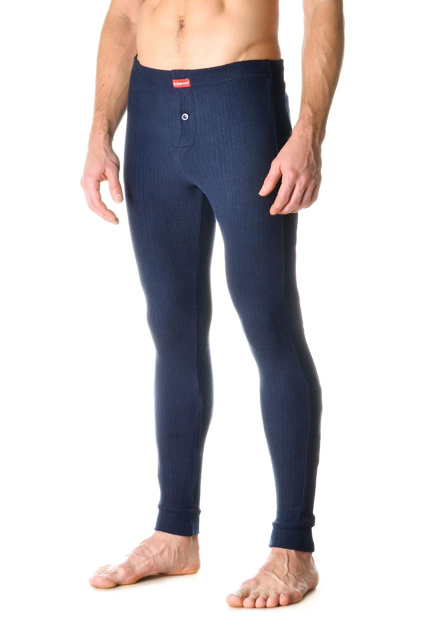 Зручні чоловічі облягаючі кальсони з якісного матеріалу темно-сині