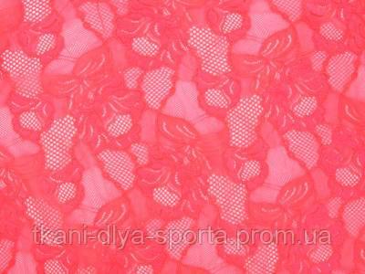 Стрейч-гипюр CHRISANNE (Англия) розовый грейпфрут (cascade pink grapefruit)