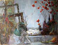 "Картина на холсте ""Натюрморт с чесноком"""