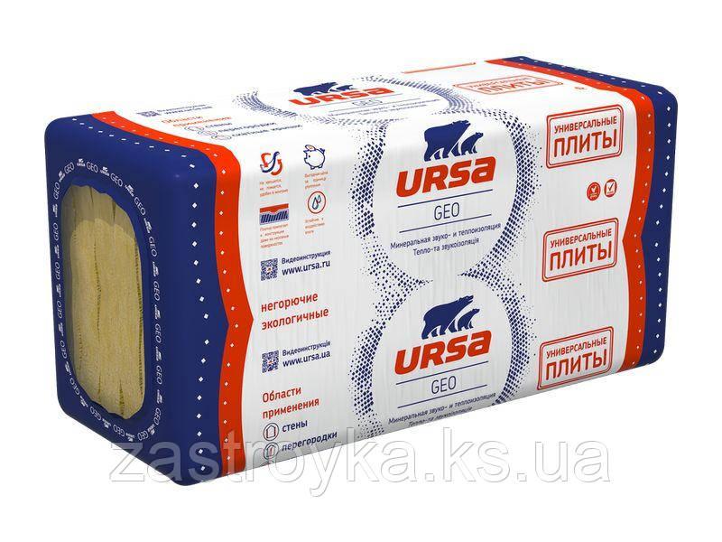 Универсальная плита URSA GEO, 4,5 кв.м 1250x600x100 мм