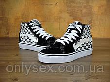 Кеды Vans Old Skool Supreme SK8 унисекс замша высокие черные