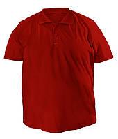 Стильная мужская футболка больших размеров из плотного трикотажа с воротником поло бордо
