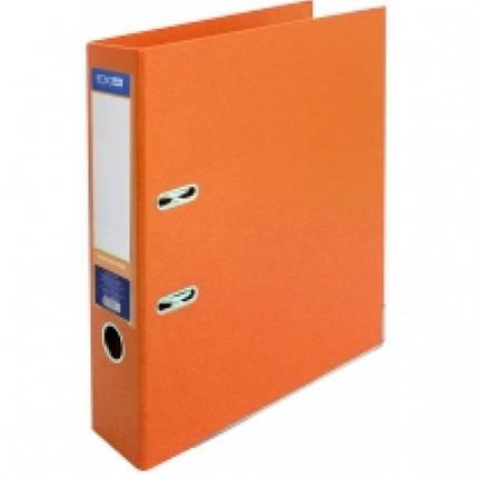 Папка-реєстратор А4 LUX Economix, 70 мм, помаранчева, фото 2