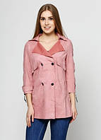 618 Плащ розовый XL