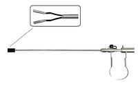 Биполярный пинцет пластинчатый прямой лапароскопический Wanhe