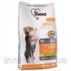 1st Choice Toy&Small Adult Chicken сухой супер премиум корм для взрослых собак мини и малых пород, курица, 6кг